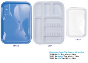 DISPOSABLE PLASTIC TRAY COVERS